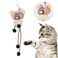 💮ロマンチックなギフト💮 猫のマウスの形のおもちゃ, 猫のおもちゃ、安全なサイザル麻のな猫のマウスの形のおもちゃ、動物のためのインタラクティブなおもちゃキティペットの猫(Bear)