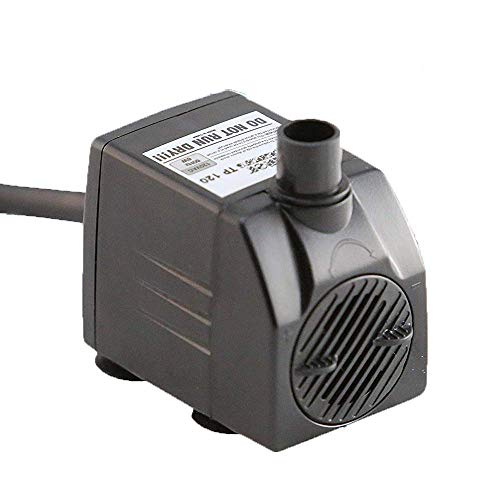 Tiger Pumps 120GPH Submersible Water Pump, Pond Pump, Aquarium Pump, Fish Tank Pump, Fountain Pump with 120 GPH Pump Excellent Powerheads for Aquariums Hydroponics Air Pump with 6 Feet Power Cord
