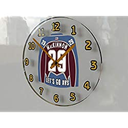 Hockey Wall Clocks - 12 X 12 X 2 N H L Jersey Themed Clock - Central Division - Let's GO Editions !! (Let's Go Avalanche Edition)