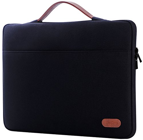 "ProCase 14-15.6 Inch Laptop Sleeve Case Protective Bag, Ultrabook Notebook Carrying Case Handbag for MacBook Pro 16"" / 14"" 15"" 15.6"" Dell Lenovo HP Asus Acer Samsung Sony Chromebook Computer –Black"