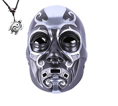 YUONE Cosplay Party Halloween Costume Bauta Mask Luxury Mask Anime Mask Film Theme Mask Death Eater Resin Skull Mask