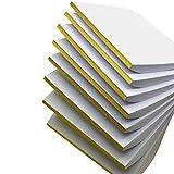8x50 Blatt Liwute Multifunktions Notizblocks blanko - Weiß Notizblöcke -