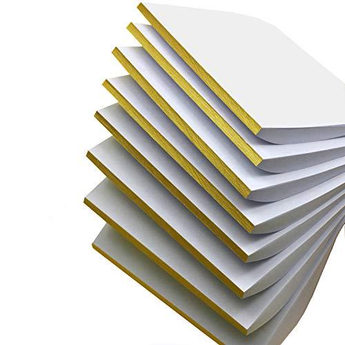8x50 Blatt Liwute Multifunktions Notizblocks blanko - Weiß Notizblöcke - Schreibblöcke - Kratzblöcke,Qualitäts-Offset-Papier 80g/m² (18x13cm)