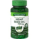 Hemp Seed Oil 700mg | 60 Softgel Capsules | Cold Pressed | Non-GMO, Gluten Free | by Nature's Truth