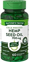 Hemp Seed Oil 700mg   60 Softgel Capsules   Cold Pressed   Non-GMO, Gluten Free   by Nature's Truth
