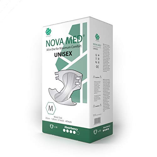 Novamed, All-in-One-Inkontinenzeinlagen, für Erwachsene, Saugfähigkeit 2550 ml, 30 Stück (Medium).