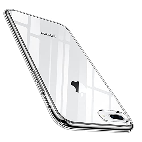 Ylife Diamond Series Kompatibel mit iPhone 8 Plus Hülle, iPhone 7 Plus Hülle, Vergilbungsfrei Transparent Unzerstörbare Schutzhülle Dünn Kratzfest Handyhülle Hard PC Back & Soft Silikon Bumper Hülle