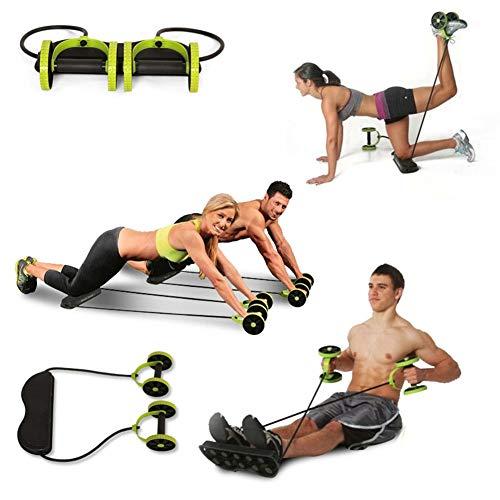 Wielen vanaf rek met rol, weerstand voor buikspieren, elastisch trekkoord met dubbel wiel, antislip, complete spieren, fitness, cadeau voor vrienden.