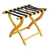 Pyrojewel Porta carga Porta carga, clásico Porta equipaje plegable de madera de diseño for el hogar, dormitorio y...
