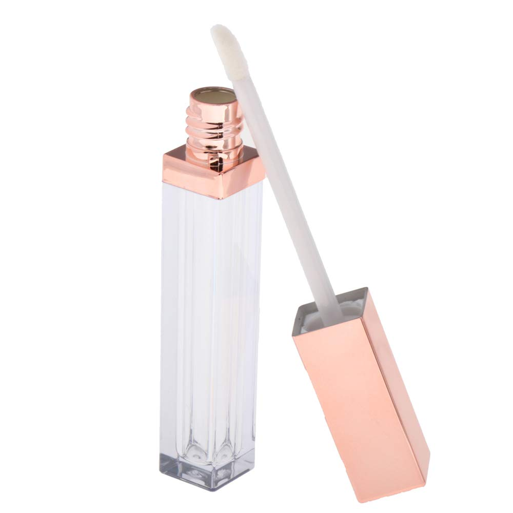 SHIYI Lip Gloss Tube Safety and trust 5ml Square Ranking TOP4 Transparent Refillable Empty Con