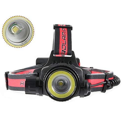 hhxiao LED Stirnlampe Yunmai Zoom LED Leistungsstarke Scheinwerfer-T6 Einstellbar COB Licht Scheinwerfer Radfahren Frontal Scheinwerfer