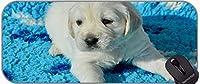エッジステッチ、マルタ犬草の子犬ホワイトグランス大きなゲームマットを持つ大きなゲームマウスパッド