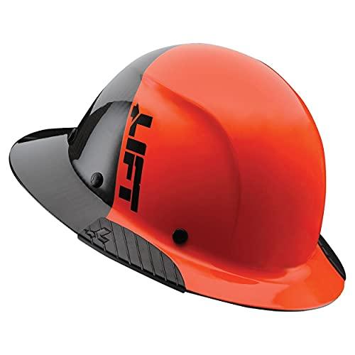 Lift Safety Dax Fifty 50 Full Brim Carbon Fiber Hardhat, Orange