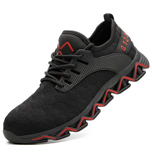 Zapato Trabajo Hombre Antideslizante Transpirable Ligeras Zapatos de Industria Unisex Calzado de Seguridad Mujer S3