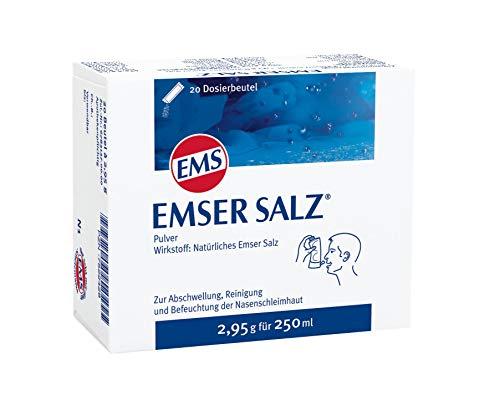 Emser Salz zur Verwendung mit der Emser Nasendusche - Bei Erkältung als Alternative zu Nasenspray – 20 x 2,95 g Beutel