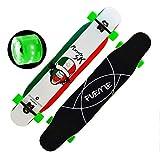 スケートボード フラッシュホイールスケートボードロングボードスケートボード滑り止めスケートボード高強度スケートボード (Color : Shout)