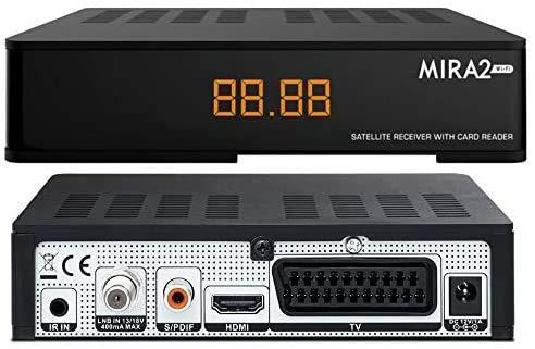 Decoder Satellitare Full HD Compatibile Con Tivusat e Tv Svizzera Italiana Amiko Mira2 WiFi