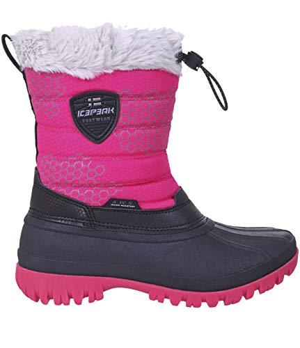 Icepeak ATKA Kids jongens, meisjes, winterlaarzen, sneeuwlaarzen, gevoerd, waterdicht