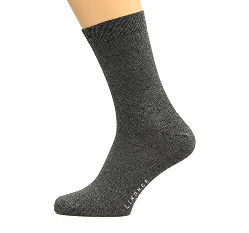 Max Lindner Socken Diabetikersocken dunkelgrau Größe 45, 46, 47-5erPack