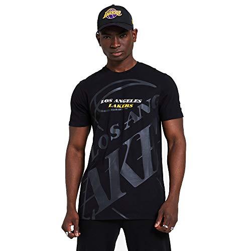 New Era NBA Big Logo tee Loslak Camiseta de Manga Corta, Hombre, Black, XS