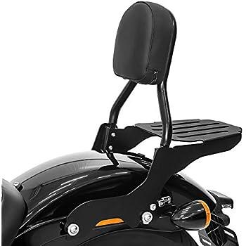Porte Bagages pour Harley-Davidson Softail Slim 18-19 Noir Sissy Bar CSL