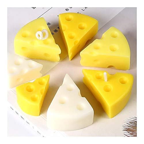 HONGTAI 6 Cavity Käse Kerze-Form-Handgemachte Kerzenherstellung 3D Kerzengiessformen