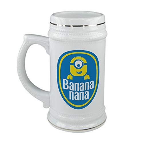 bubbleshirt Boccale da Birra Minions - Banana Nana - in Ceramica - capienza 50 CL - Idea Regalo