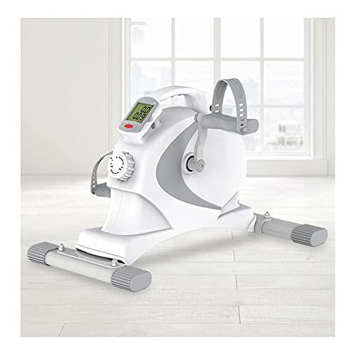 Lixiabeidai Ejercitador de Pedales portátil para el hogar, máquinas de Entrenamiento elípticas portátiles con aplicación Inteligente y Cuerda de tracción,White