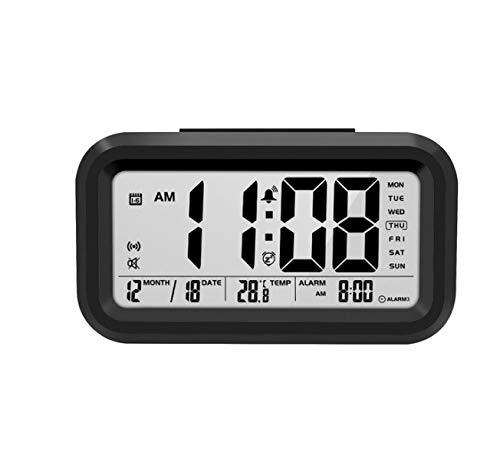 Trendyshop365 Reloj Parlante Tiempo Y Temperatura Parlante Reloj Despertador Digital con Termómetro Luz De Fondo del Calendario