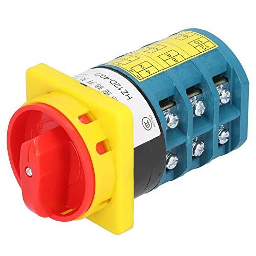 Fafeicy Interruptor de cambio universal, interruptor de leva giratorio eléctrico de 4KV, utilizado como interruptores de control de circuito, con todos los contactos de aleación de plata, 380V/40A