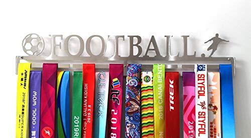 Edelstahl Sportmedaillenhalter, Fußball, Laufen, professionelle Wandhalterung, Silber