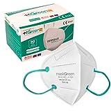 Maskgreen - Mascarilla FFP2 Homologada - Caja 20 Mascarillas FFP2 CE - Fabricadas en España - Alta Protección 97% - Libres de Grafeno - Normativa UNE-EN 149:2001 + A1:2009.
