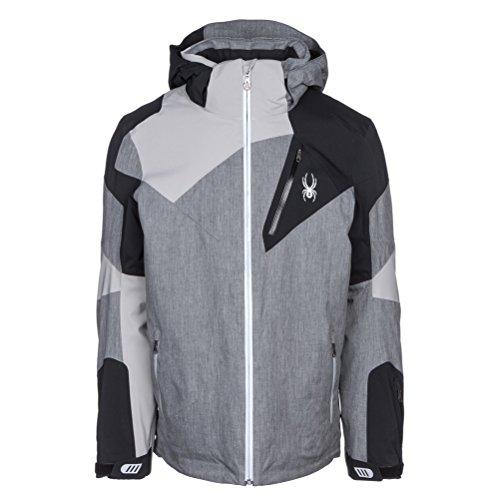 Spyder Men's Leader Jacket Polar Herringbone/Black/Limestone Small