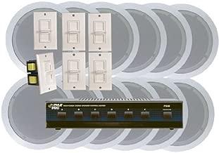 Pyle KTHSP125 6 Room In-Ceiling Home Speaker System w/6 Volume Controls Knob & Selector