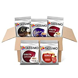 Tassimo Variety Box Costa, Kenco, Cadbury & L'OR Coffee Pods (Pack of 5, Total 56 Coffee Capsules)