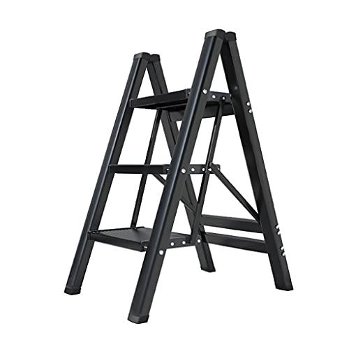XMCF Escalera Escalera Plegable del Hogar Escalera De 3 Escalones Plegable De Aluminio Escaleras De Tijera Livianas Taburete De Escalera Plegable De Diseño Moderno Antideslizante Ligera y Resistente