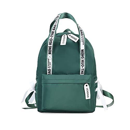 Rucksack für Teenager, Mädchen, stilvoller Rucksack aus Segeltuch, Grün - grün - Größe: Einheitsgröße