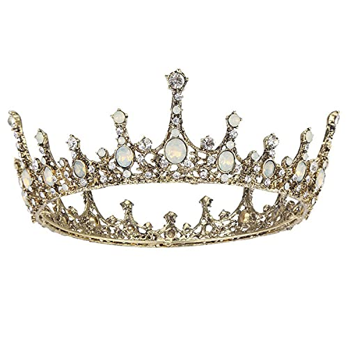 COCIDE Bronze Tiara and Crown for Women Queen Opal...