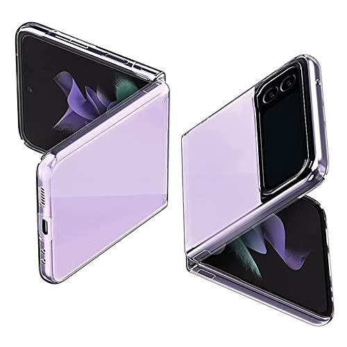 DOHUI für Samsung Galaxy Z Flip 3 5G Hülle, Ultra-Dünne Transparent Hartes PC Handyhülle Stoßfest Kratzfeste Schutzhülle passt für Samsung Galaxy Z Flip 3 5G (Transparent)