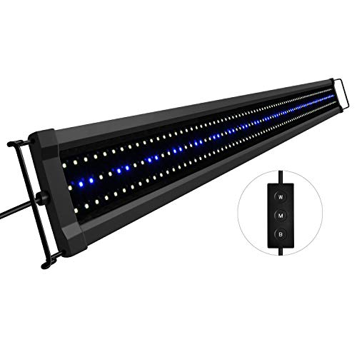 NICREW ClassicLED Gen 2 Aquarium Light, Dimmable LED Fish Tank Light with 2-Channel Control, White and Blue LEDs, High Output, Size 48 to 60 Inch, 40 Watts