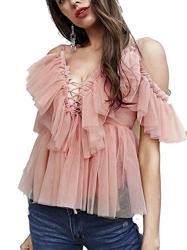 Lace Ruffle Front Top - 4