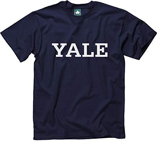 Ivysport Yale University Bulldogs Short Sleeve Adult Unisex T-Shirt, Classic, Navy, Small