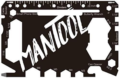 Mantool - Multifunktionswerkzeug für Geldbörsen – 46 Werkzeuge in 1.