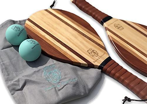 Pacth & Sinclair | Juego de bate y bola de playa de madera de lujo | Frescobol (usset)