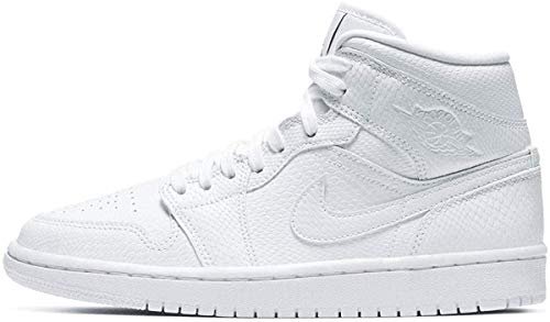 Nike Damen WMNS AIR Jordan 1 MID Basketballschuh, White White Black, 38 EU