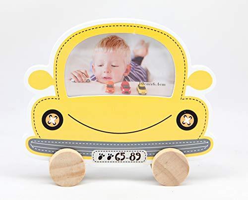 Unbekannt Baby Car Bilderrahmen Gelb Lila Kinder Foto Rahmen Portrait Porträtrahmen: Farbe: Gelb