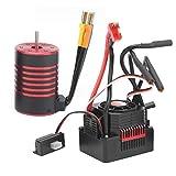 EFFACER 60A ESC, Niederspannungs-Abschaltschutz 2300KV Brushless Motor Metall und für Rc-Modell für Rc-Auto für Rc-Spielzeug für Spiele