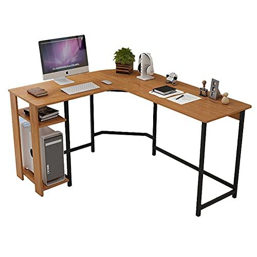 Escritorio de esquina,Escritorio en Forma de L Escritorio esquinero Escritorio grande Escritorio negro Mesas gaming para ordenador, ideal para el hogar, oficina, escritorio en forma de L, tablero de d