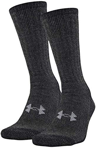 Under Armour Adult Hitch Coldgear Boot Socks, 2-Pairs , Black , Large