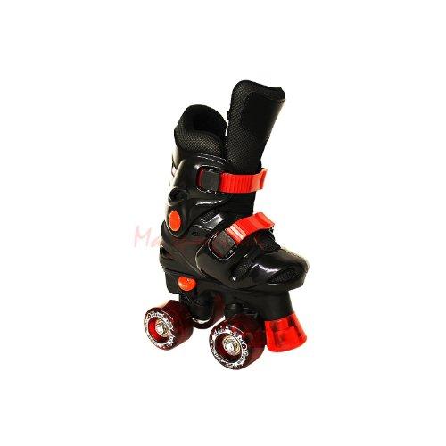 Californie Pro Rollo PG 4 patins à roulettes ajustables pour enfant (Noir, 3 UK – 5 UK)